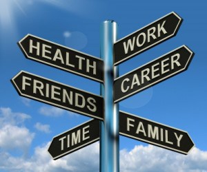 Work-Life-Balance-Sign-post